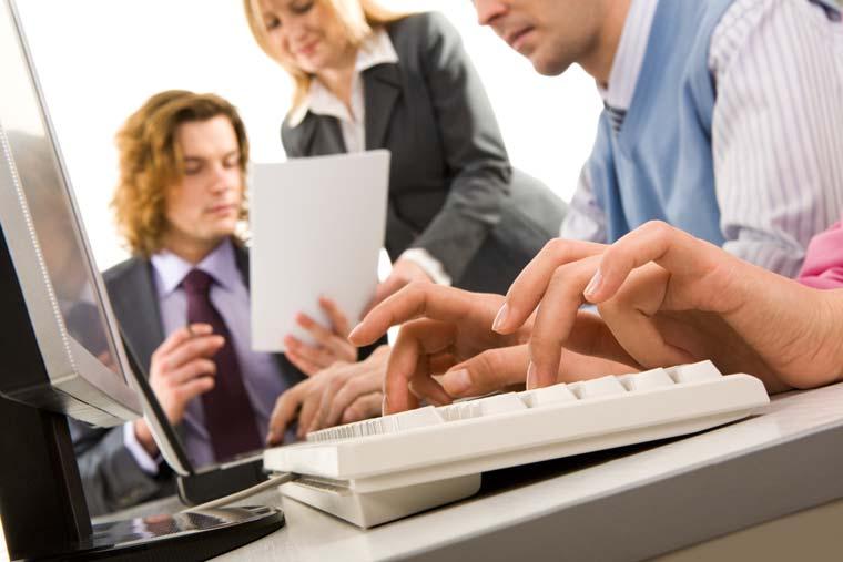 Colleagues reviewing a CV