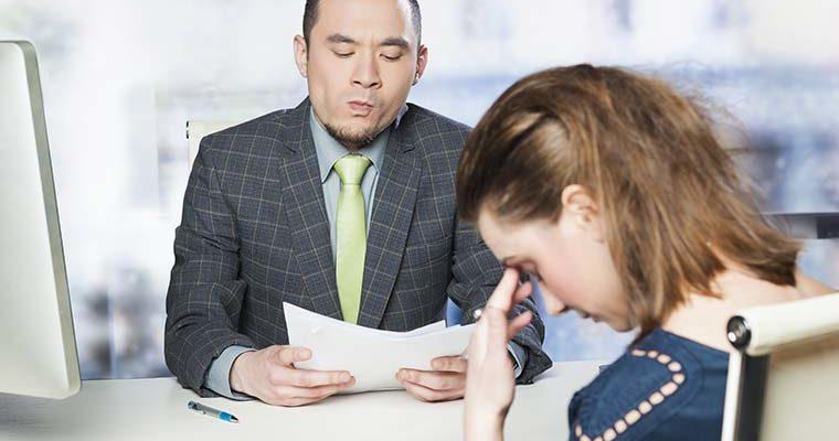 Poor job interview