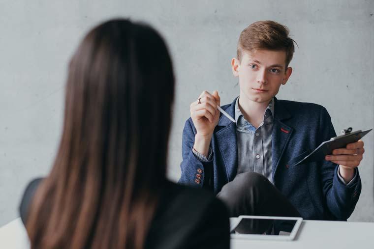 Job interview - worried candidate