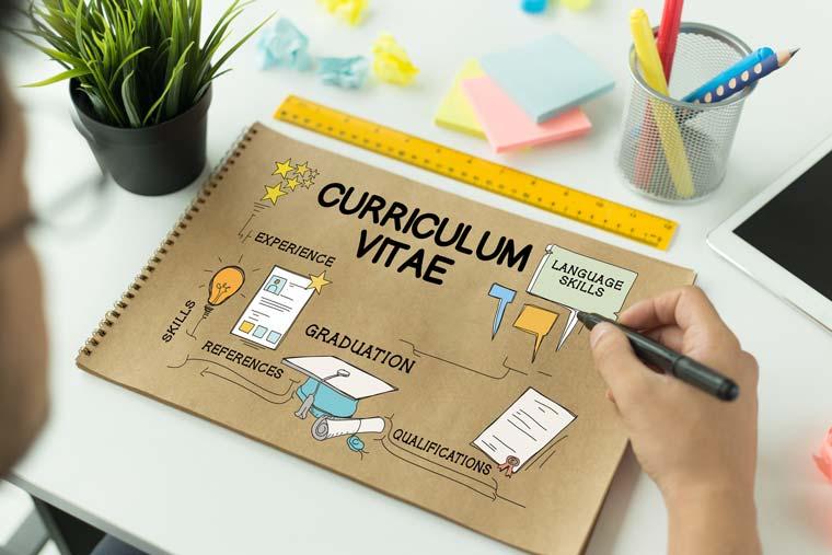 Planning a CV - concept